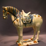 Oxford Authentication - Sancai glazed Tang Horse, Courtesy of Castle Antiquities - Hong Kong photo