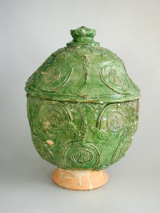 Oxford-Authentication-TL-thermoluminescence (TL) testing-authenticity-dating_UK_Oxfordshire_Pottery Buddhist Jar with lid
